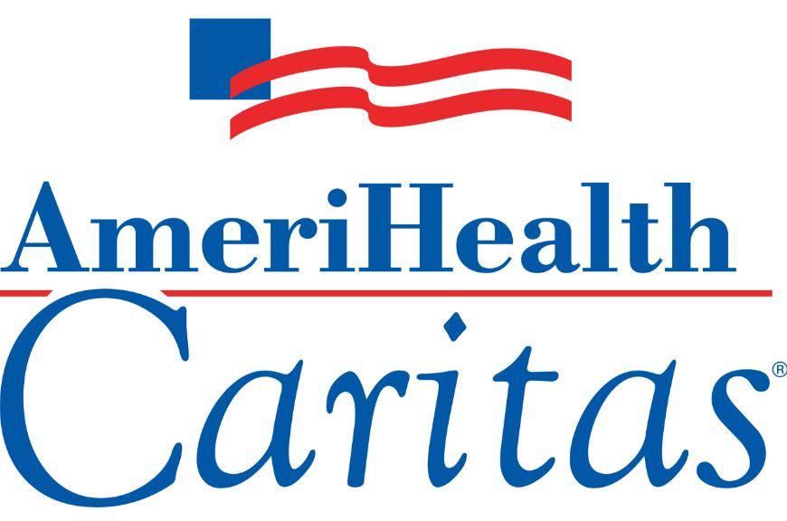 AmeriHealth logo with red flag stripes