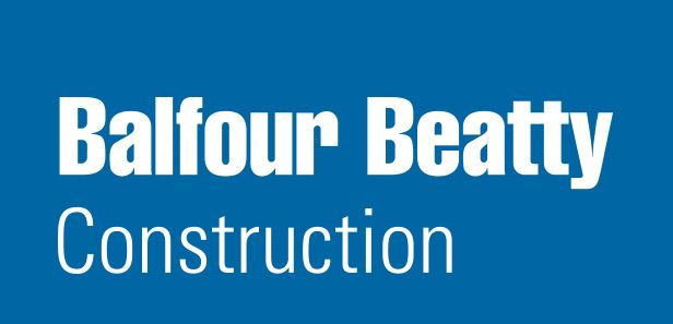Balfour Beatty logo - blue box with white lettering
