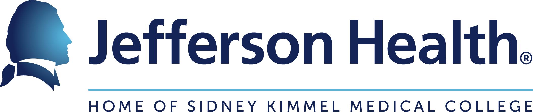 Jefferson logo in blue w/silhouette of Thomas Jefferson