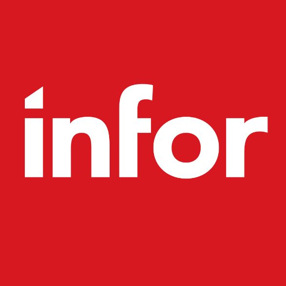 Infor logo - red box with white letters