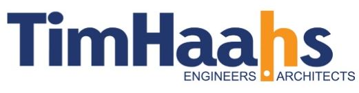 Tim Haahs logo in blue and gold